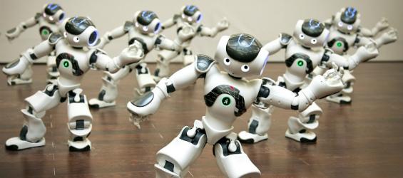 Robots bailando música